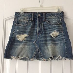 American Eagle Distressed Denim miniskirt